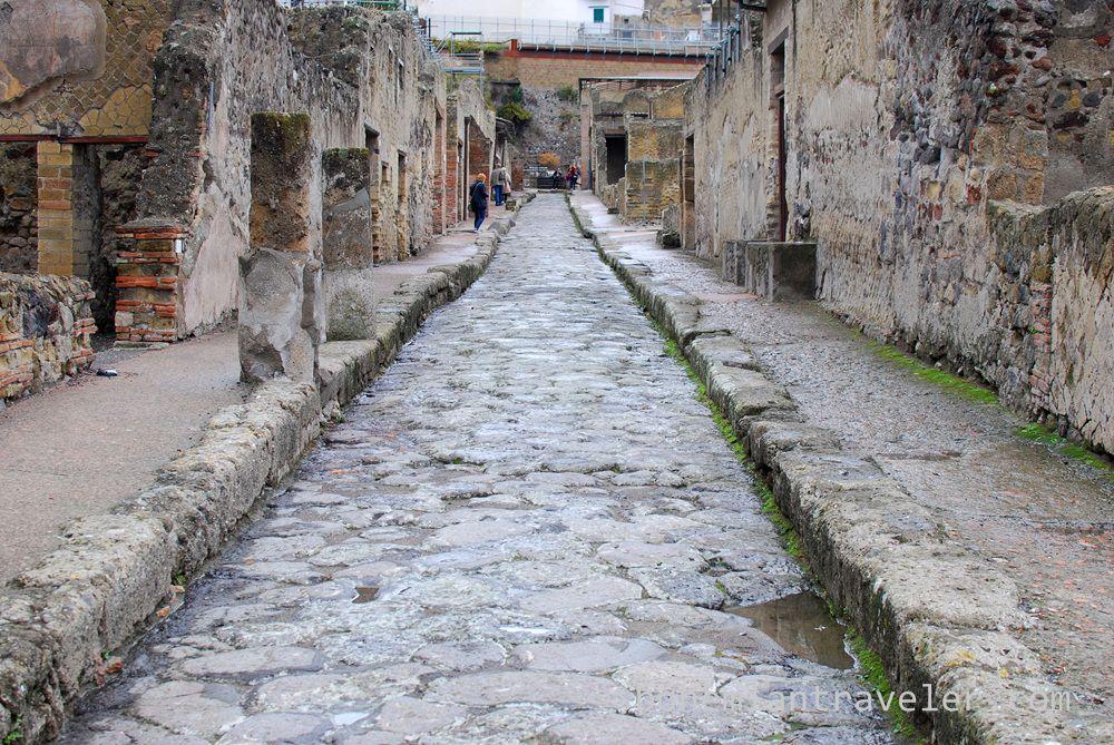 A street in Herculaneum.