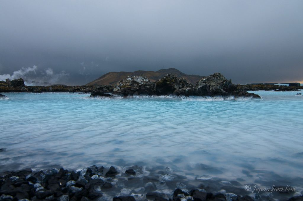 Natural spring of Iceland in Reykjanes Peninsula