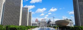 New York State Building and 'the Egg' in Albany