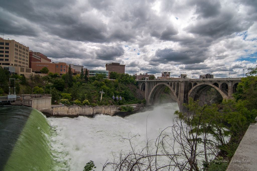 Spokane Falls, the 2nd Largest Urban Waterfall in the United States.