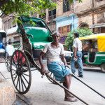 Pulled Rickshaw Kolkata India