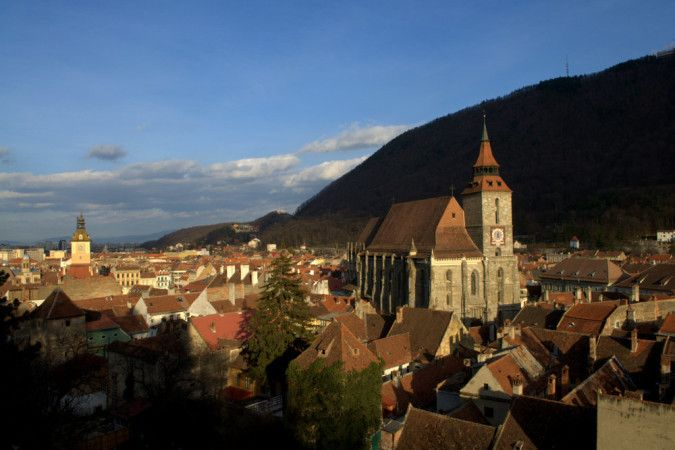 view over Brasov Romania