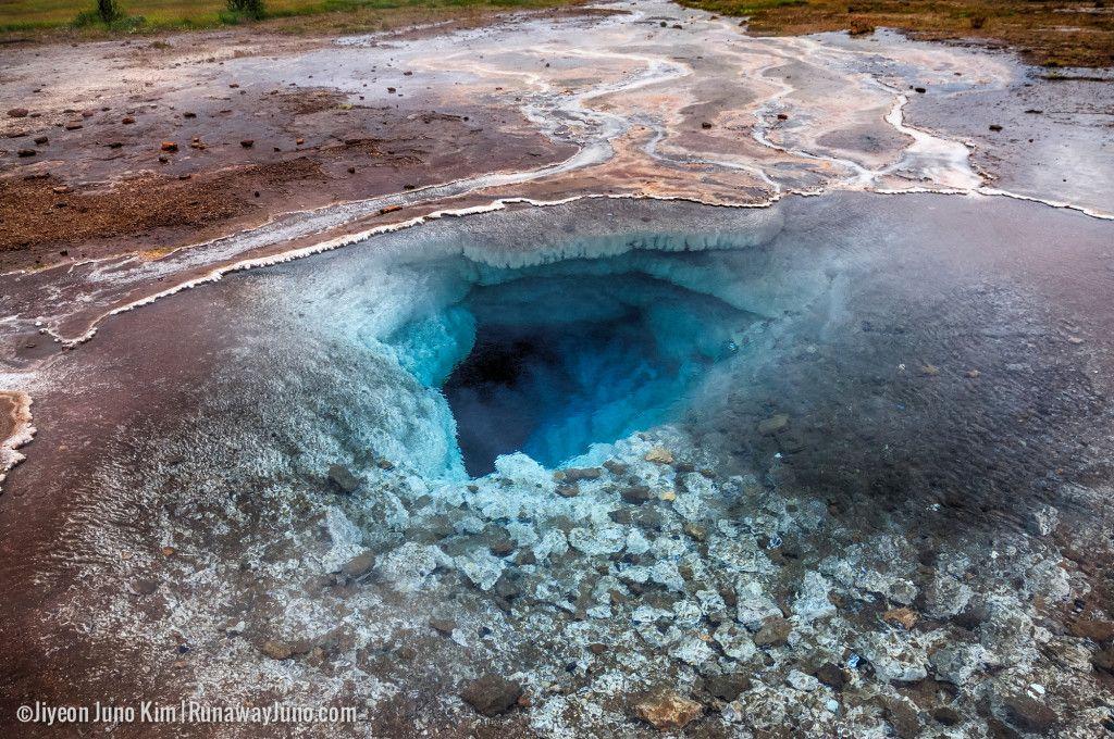 Iceland Blesi hot spring