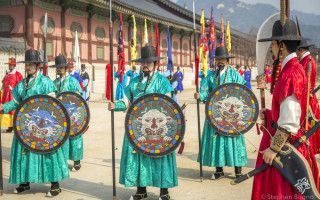 Royal Guard Changing Ceremonies at Gyeongbokgung Palace