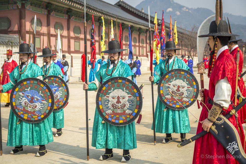 Royal Guard Changing Ceremonies at Gyeongbokgung Palace